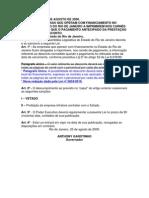 Lei nº 3450 - Obriga as financeiras imprimirem nos carnês a informação que o pagamento antecipado da prestação assegura um desconto