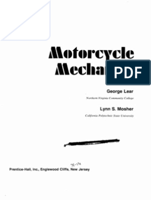 Motorcycle Mechanics - George Lear | Internal Combustion Engine