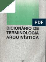 Dicionário de Terminologia Arquivística 1993