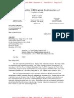 Letter to Court in Ascentive v. PissedConsumer matter