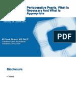 Perioperative Medicine Pearls