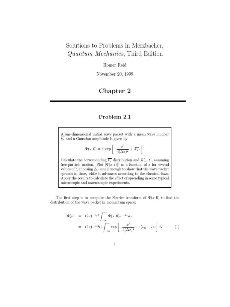 solutions to problems in merzbacher quantum mechanics 3rd ed reid rh es scribd com eugen merzbacher quantum mechanics solution manual eugen merzbacher quantum mechanics solution manual