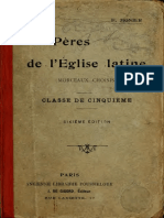 Monnier. Morceaux choisis des Pères de l'Eglise Latine. 1912.