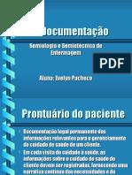 Prontuário - Anotações - Admissão - Alta