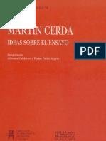 Cerda, Martín - Ideas sobre el ensayo
