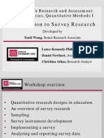 Quan Presentation 1 Survey Research