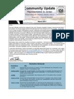 Rep. Jo Jordan's March 2011 Newsletter