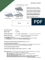 0 1 Reinforced Concrete Slab Design EC2