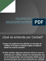 Calidad de la Educación Superior (1)