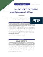 Tumor anaplásico da tireóid, pesquisa retrospectiva 12 casos