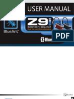 blueant z9i manual bluetooth telephone rh scribd com User Guide Template User Guide Template