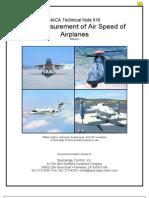 Air Speed Measurement NACA
