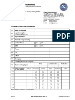 Company Questionnaire