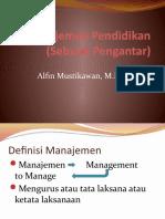 Manajemen Pendidikan Pertemuan i(2)
