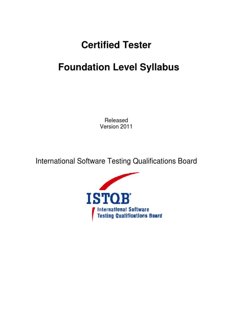 International Software Testing Qualifications Board Istqb