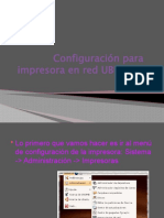 Configuracion de Impresora en Red Ubuntu