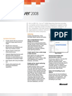 SQLServer 2008 Reporting Services - Datasheet