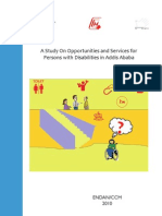 A Study on Opportunities and Services for Persons With Disabilities in Addis Ababa