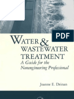 Water and Waste Water Treatment a Guide for the Non Engineering Professionals