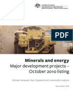 Australian Government 2010 Mineral and Energy Major Development Projects