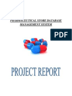 Pharmaceutical Store Database Management System