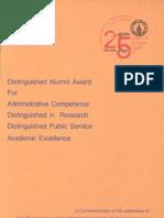 Distinguished Alumni Award