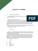 Selectia in Handbal
