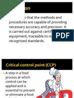 Definitions HACCP