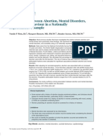 Associations Between Abortion, Mental Disorders, And Suicidal Behaviour in a Nationally Representative Sample