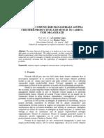 Impactul Comunicarii Manageriale Asupra Productivitatii Muncii in Organizatie