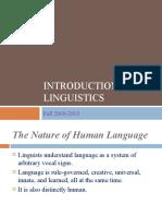 The Nature of Language and Linguistics