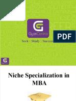 Niche Specialization in MBA