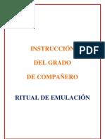 Instruccion Del Grado Companero Mason Ritual Emulacion