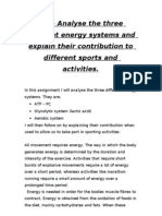 ENERGY SYSTEMS - Analyse the 3 Different Energy Systems - 1.2
