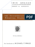 Interpretation of Financial Statements-Ben Graham
