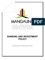 Banking & Investment Policy