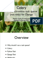 Celery - An A Synchronous Task Queue (Not Only) for Django