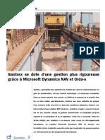 Gantrex se dote d'une gestion plus rigoureuse grâce à Microsoft Dynamics NAV et Orda-s