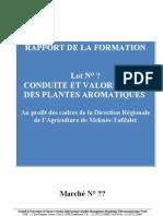Rapport Formation Production Et ValorisationPAM Echchgadda