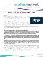 Policy on Addressing Concerns