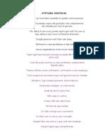 Atitudes Positivas Texto Power Point