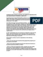 Irish Life Permanent Shareholders Demand Meeting Now