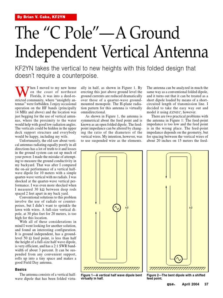 C Pole Antenna | Antenna (Radio) | Coaxial Cable