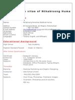 Curriculum Vitae of N. Huma. Final