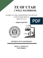 Utah Water Well Handbook 2011