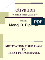 Motivation What a Leader Can Do It