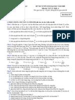đề thi đại học vật lý khối a 2009 - mã đề 135