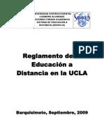 Reglamento de Educaciòn a distancia de la UCLA