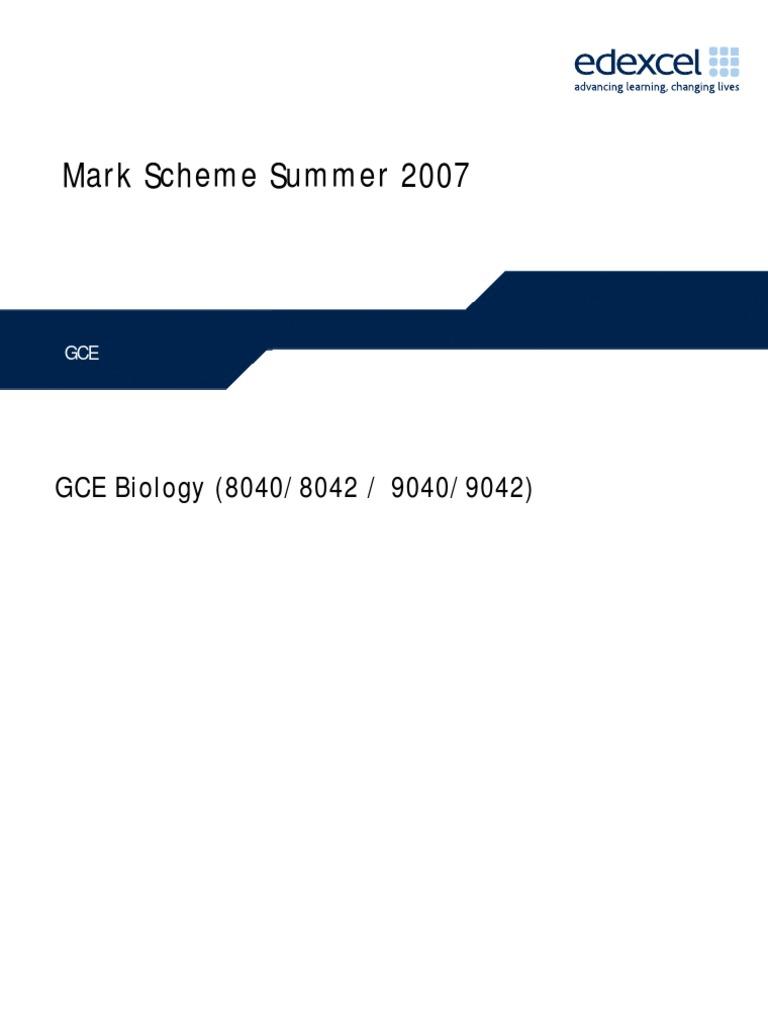 snab biology a2 coursework mark scheme