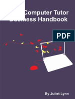 Computer Tutor Business Handbook Sample